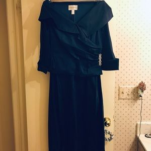 Women's David's Bridal Navy Blue dress